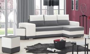 Canapé d'angle réversible convertible en lit