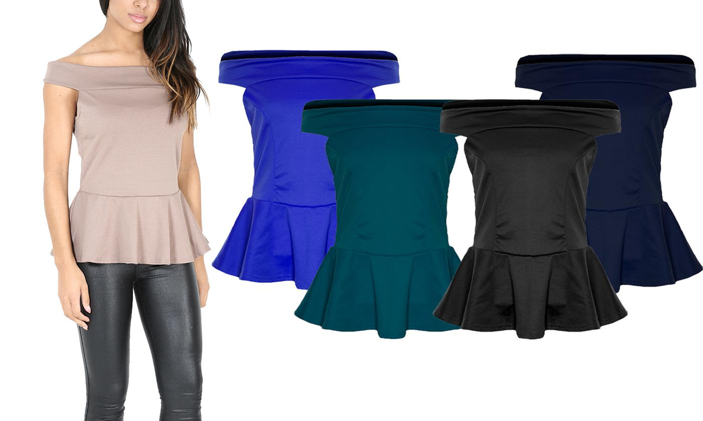 Oops Off-Shoulder Peplum Top