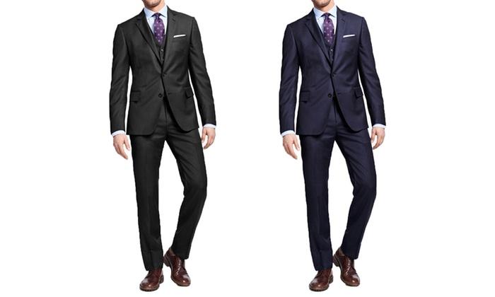 Mundo Men's Tone-on-Tone Slim-Fit Suit (3-Piece)