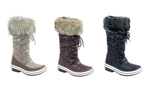 Mata Women's Winter Fur-Lined Water-Resistant Snow Boots (8.5 & 10 ...