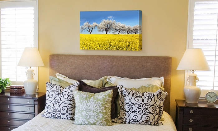 """Fabness: Personalized 24""""x36"""" Canvases from Fabness (Up to  85% Off)"""