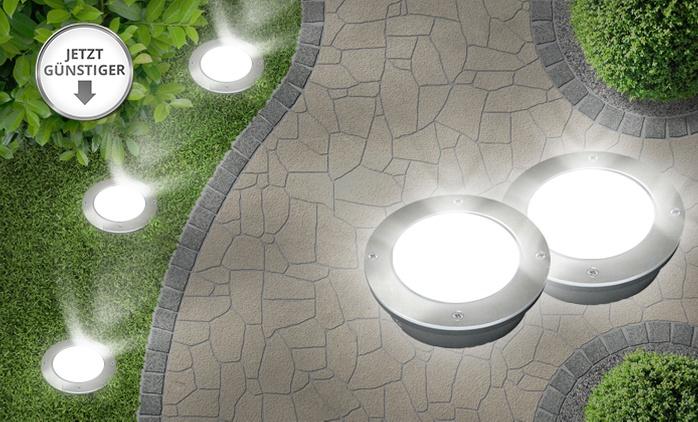 LED Solar-Bodenleuchten im Design und der Menge nach Wahl inkl. XXL Power Akku