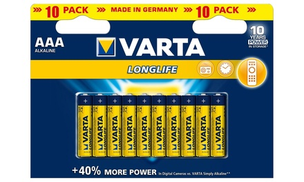 Varta LongLife 10Pack of AA or AAA Batteries from £3.49