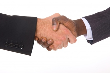 $1 for a Firm Handshake - Acme Handshakes in