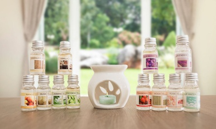 One, Two or Four Oil Burner and Fragrance Oil Gift Sets
