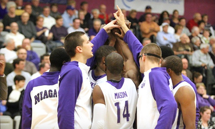 Niagara University Men's Basketball - Lewiston: Niagara University Men's Basketball Games at Gallagher Center (Up to 59% Off). Six Options Available.