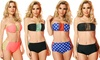 Dippin' Daisy's Women's High-Waisted Strappy Bandeau Bikini: Dippin' Daisy's Women's High-Waisted Strappy Bandeau Bikini