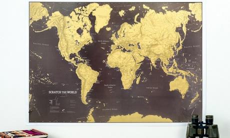 1 o 2 mappe del mondo da grattare, disponibili in 2 colori