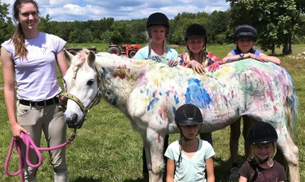 One-Week Horseback-Riding Summer Camp for One or Two Kids at Vector Equestrian (Up to 54% Off)