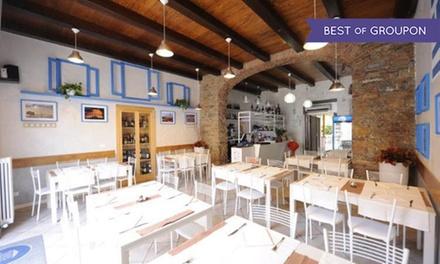 Menu greco e vino al ristorante Odissea