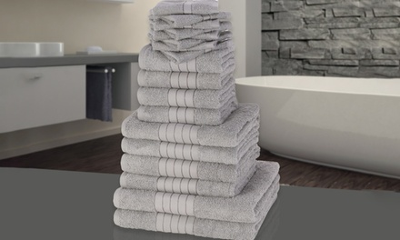 18Piece 500gsm Egyptian Cotton Towel Bale in Choice of Colour for £37.99