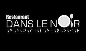 Restaurant dans le Noir: Souper 3 services et rabais de 25 % sur l'alcool pour 2 ou 4 au restaurant Dans le noir QDS (jusqu'à 45 % de rabais)