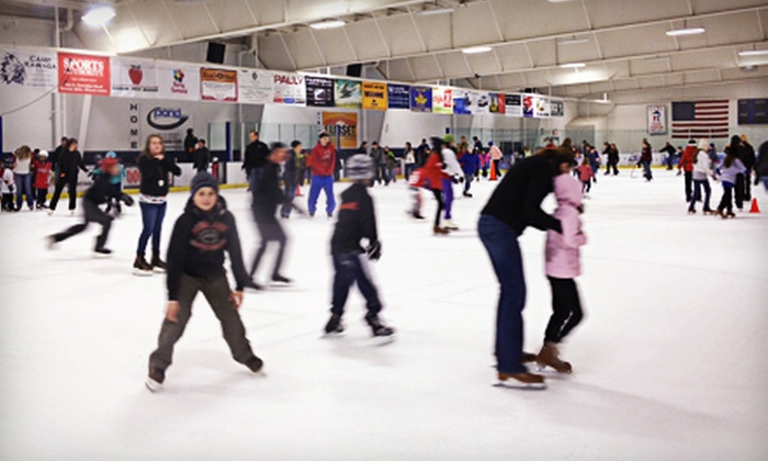The Glacier Ice Arena - Vernon Hills: Ice Skating and Skate Rental for Two or Four at The Glacier Ice Arena (Up to 54% Off)