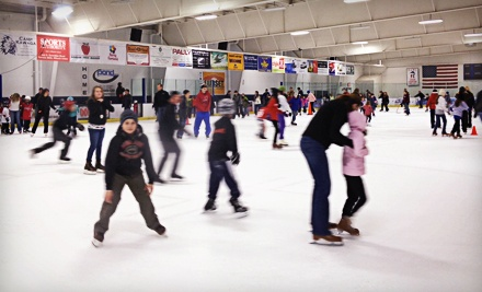 Ice Skating and Skate Rental for Two or Four at The Glacier Ice Arena (Up to 54% Off)