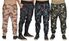 ARSNL Men's Printed Elastic-Waistband Joggers with Pockets: ARSNL Men's Printed Elastic-Waistband Joggers with Pockets
