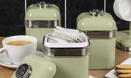 Swan Set of Three RetroStyle Canisters in Choice of Colour