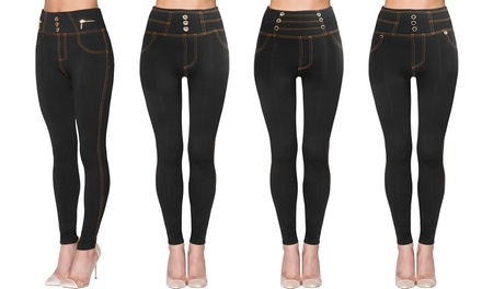 Two-Pack of Fleece-Lined Jeggings