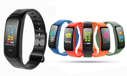 Activity Fitness Tracker with Heart Rate Monitor and Music Control: One ($29.95) or Two ($54.95)