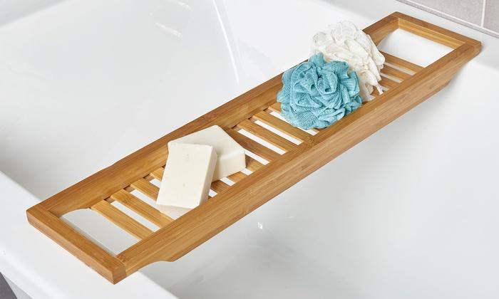 Bamboo Bath Caddy | Groupon Goods