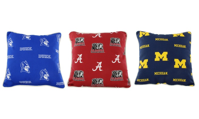 ncaa licensed indoor outdoor decorative pillow