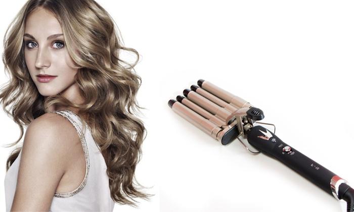 Piastra per capelli a 5 tubi groupon goods for Piastra per capelli mossi
