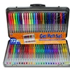 Comfort-Grip Gel Pens with Tin Storage Case (52-Pack)