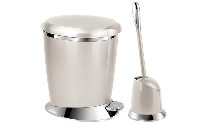 Two Piece Toilet Bin And Brush Set Groupon Goods