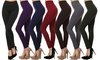 Women's High-Waist Leggings with Wide Waistband. Plus Sizes Available.
