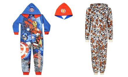 Kids Character Hooded and Reversible Onesies