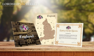 Lordship Titles: $15 for a Lord or Lady's Decorative Title Package form Lordship Titles (Up to $48.30 Value)