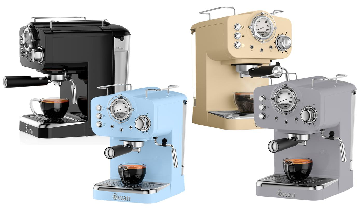 Swan Retro Pump Espresso Coffee Machine