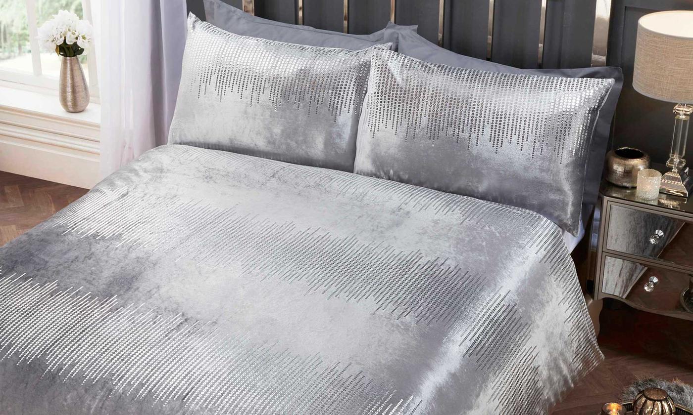 Rapport Home Velvet Touch Shimmer Duvet Set for £15.98