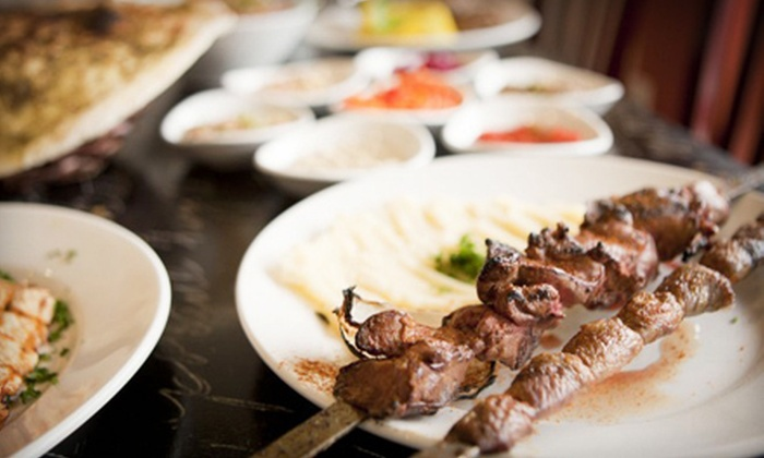 Tiki Taka Grill - Hillcrest: Mediterranean Meal with Drinks for Two or Four at Tiki Taka Grill (Up to 52% Off)