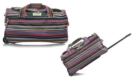 Sac à roulettes en polyester avec rayures, modèle Aintree