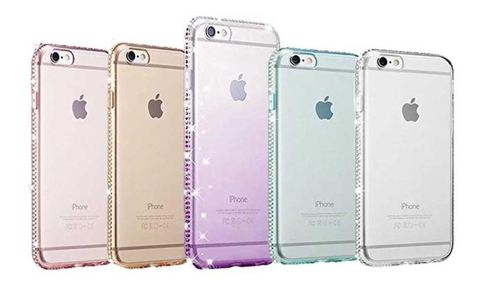 1 ou 2 coques ornes de strass pour iPhone coloris et modèle au choix dès 9.95€ (jusquà 76% de rduction)