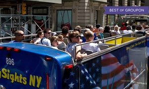 CitySights NY: Double Decker Bus Tour and Ferry Boat Cruise Package for One or Two from CitySights NY (Up to 43%Off)