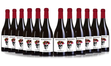 12 Bottles of Wine and Roses Tempranillo Red Wine