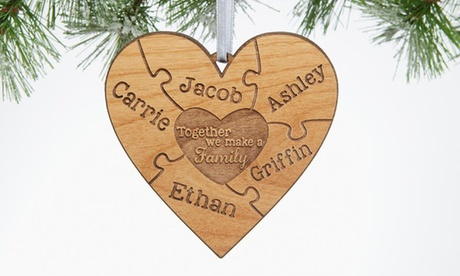 One Personalized Wood Puzzle Ornament from Personalization Mall (41% Off) dc29eff9-fbb1-431c-8569-b70fb2209d21