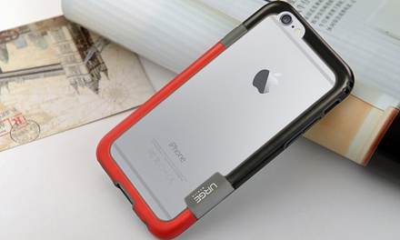 Urge Basics Two-Tone Slim Bumper Case for iPhone 6; Includes Bonus HD Screen Protector