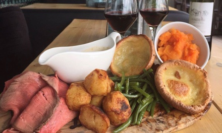 Sunday Lunch with Bottle of Prosecco or Cocktails to Share for Two or Four at The Laundrette Newcastle (Up to 43% Off)