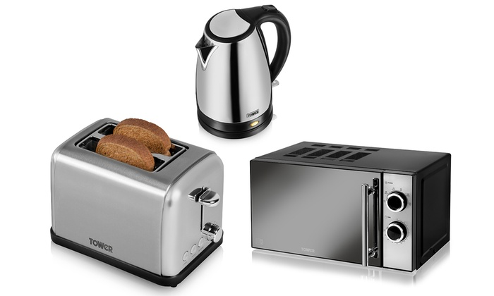 Microwave And Toaster In 1 ~ Tower kitchen devices set groupon