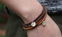 Suede-Cord Bracelet with 14K Gold-Filled Initial Charm from By Hannah Design
