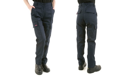 Women's Site King Cargo Work Trousers in Navy Blue
