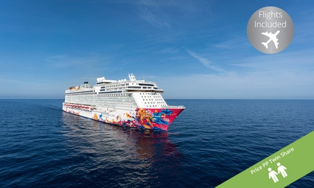 Singapore: 6 Night Fly Cruise Package on Genting Dream per person Including a Night at the 4* Studio M Hotel