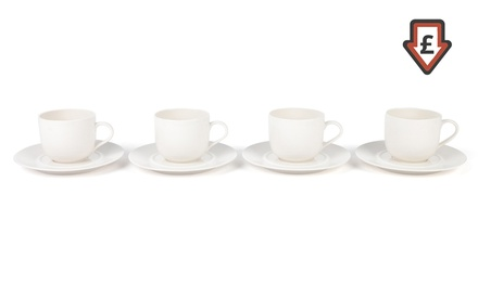 Alessi Porcelain Cups and Saucers