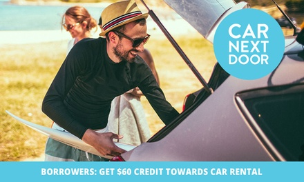 $10 Credit to Spend on Car Rental with Car Next Door