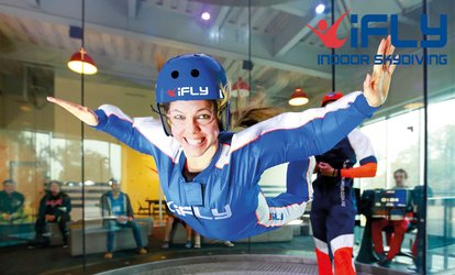 image for TWO DAYS TO GO: Indoor Skydiving Experience Including Two Flights at iFLY (Up to 64% Off)