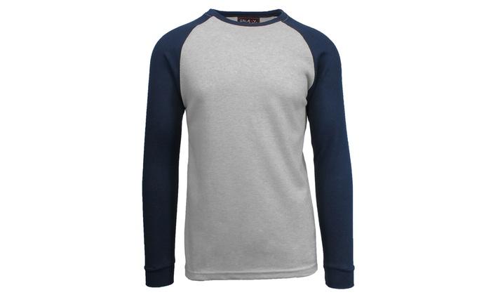85d2c3652d9d Galaxy by Harvic Men s Raglan Waffle Thermal Shirt