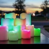 Flameless Color-Changing Resin-Finish Candle Set (12-Piece)