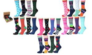 Frenchic Women's Crew Socks With Gift Box (8-Pairs)